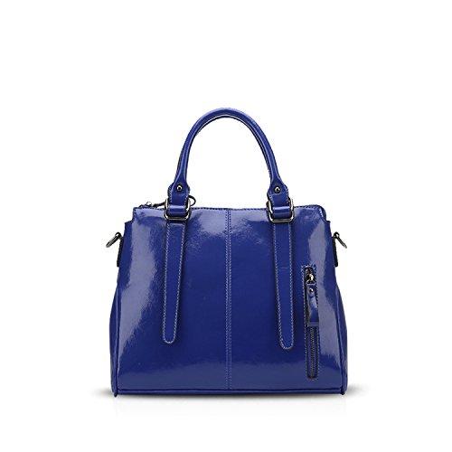 NICOLE&DORIS Elegante Bolsos de Mano para Mujer Monederos Pequeña Bolso Crossbody Mujer Bolso de Bandolera Grande PU Marrón Azul