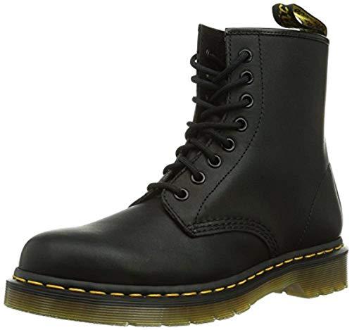 - Dr. Martens 1460 8-Eyelet Boots Black Greasy Leather US Men 13 & Bandana Bundle