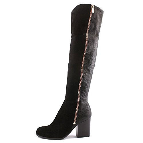 Leather Closed Black Boots Bar Toe III Party Over Womens Knee Fashion gtxwf7Tq