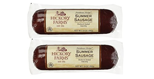 Hickory Farms Summer Sausage Hardwood Smoked (Pack of 2) ()