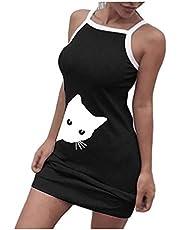 DSJTCH 2020 Womens Letter Nightgowns And Sleepshirts Sleepwear Sleep Shirt Printed Night Dress Short Sleeve Nightwear (Color : Black, Size : XL)