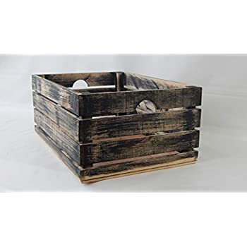 At Home on Main Handmade Rustic Crates (Medium) (Black)