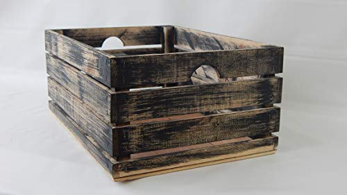 (At Home On Main Handmade Rustic Crates (Medium) (Black))
