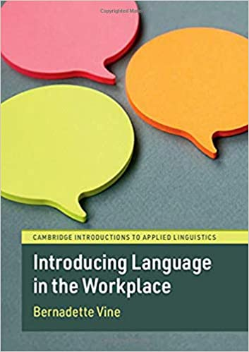 Introducing Language in the Workplace (Cambridge Introductions to Applied Linguistics) - Original PDF