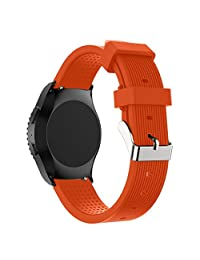 Watch Band, ABC® New Fashion Luxury Sports Silicone Bracelet Watch Band Strap for Samsung Gear S2 Classic 732 (Orange)