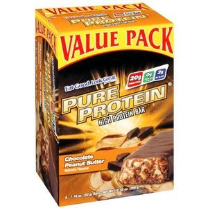 Pure Protein High Protein Bar, Chocolate Peanut Butter, 6 Bars, 1.76 Ounces (Pack of 2)