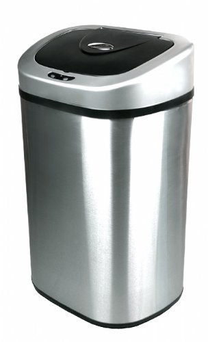 Oval Future Living Tech Steel 80 Liter Auto Infrared Sensor Trash Can by Ninestars