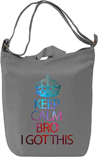 Keep Calm Borsa Giornaliera Canvas Canvas Day Bag| 100% Premium Cotton Canvas| DTG Printing|