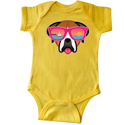 Glasses 921 (inktastic - Boxer Dog Sunglasses Infant Creeper 6 Months Yellow 36772)