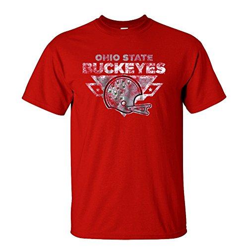 Elite Fan Shop Ohio State Buckeyes TShirt Red Vintage Football - M