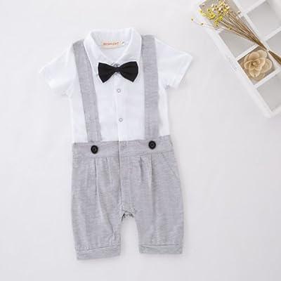 300caddbd Baby Boy Infant Formal Cute Tuxedo Suit Wedding Christening Smart ...