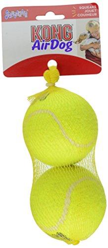 KONG Squeaker Tennis Balls Dog Toy, Large, 2 Count (Kong Dog Balls Air)