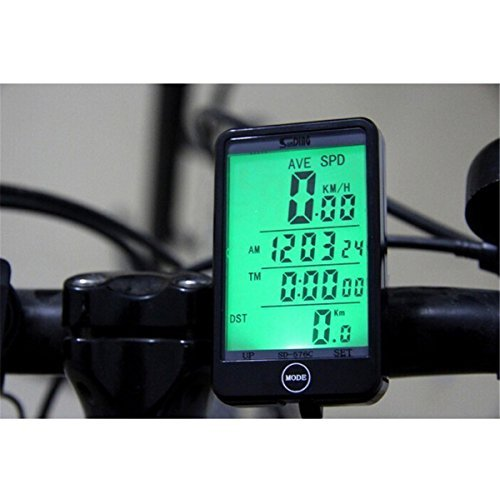 Multi Functions Water-resistant Sunding Wired Cycling Bike Bicycle Computer Speedometer Odometer Stopwatch