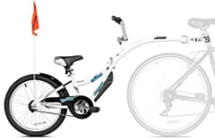 Train a child how to ride a bike without dealing with training wheels with the WeeRide Co-Pilot bike trailer. The Co-Pilot--which attaches quickly and easily to almost any bicycle with a seat post--is just like a regular bike, with handlebars...