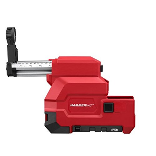 Milwaukee Electric Tool 2712-DE Dust Extractor, For Use With SDS Plus Rotary Hammers, Metal and Plastic, Red, 12.48 L