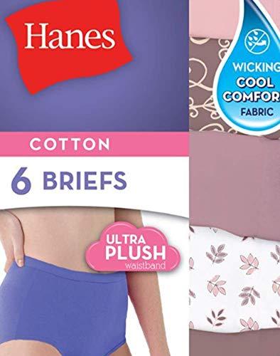 (Hanes Women's No Ride Up Cotton Brief 6-Pack_Asst Body Tone_7)