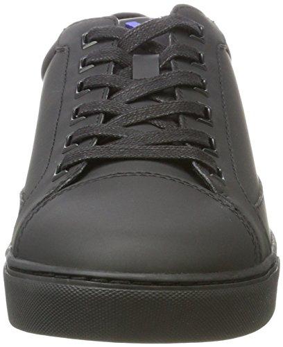 Armani Hombre Negro Tobillo nero Cut Sneaker Bajo Low FqfrF