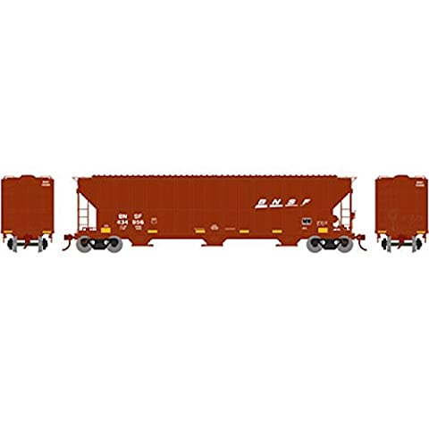 Athearn ATH81989 HO RTR FMC 4700 Covered Hopper, BNSF #434956 - Athearn Ho Brake