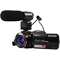Ordro HDV-Z82 Full HD Camcorder with 10X Optical Zoom, 120X Digital Zoom, External Microphone, and 3.0 Inch Touch Screen LCD from Emperor of Gadgets