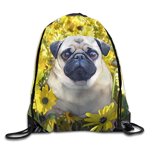 Drawstring Backpack Gym Bag Travel Backpack, Wolf Bubble, Gym Mens Womens Small Bags For Boys Girls