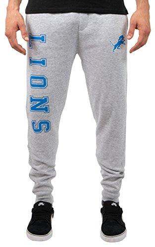 NFL Detroit Lions Men's Jogger Pants Active Basic Fleece Sweatpants, Large, Gray