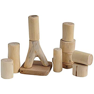Constructive Playthings 12 pc. Baby Tree Blocks Set of Large, Easy to Handle Pieces for All Ages: Industrial & Scientific