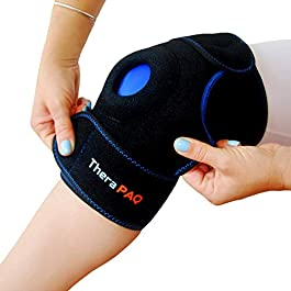 Knee Ice Pack Wrap by TheraPAQ: Hot & Cold Therapy Knee Support Brace – Reusable Compression Sleeve for Bursitis Pain Relief, Meniscus Tear, Rheumatoid Arthritis, Injury Recovery, Sprains & Swelling