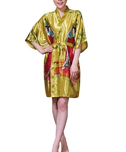 con Camisa Acvip noche Ropa de Kimono mujer Vestido cintur para corto qqfwz76