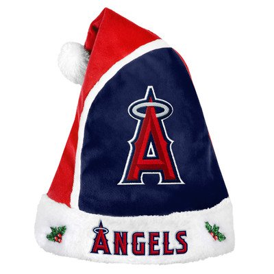 MLB Los Angeles Angels Forever Collectibles Santa Hat, Red, One Size Mlb Santa