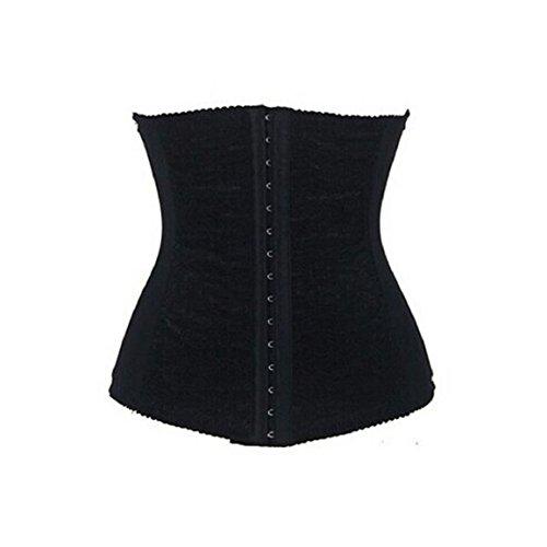 Culater® Elasticidad Mujer de encaje de cintura de Cincher Underbust Body Shaper Negro
