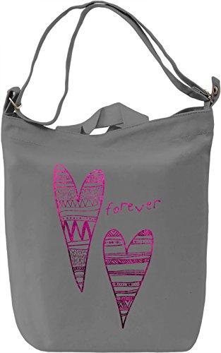 Forever Borsa Giornaliera Canvas Canvas Day Bag| 100% Premium Cotton Canvas| DTG Printing|
