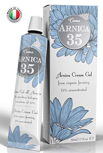 (Arnica 35 - THE MOST CONCENTRATED - Arnica Gel Cream with a 35% concentration - Specific for Bruises, Neck Pain, Back Pain, Shoulder Pain, Leg and Foot Pain, Muscle Pain)