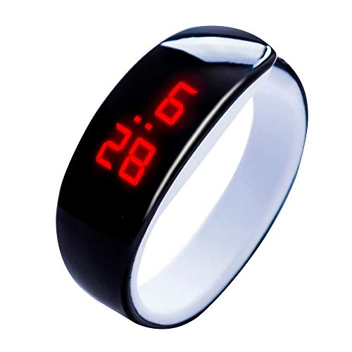 WUAI Unisex Silicone LED Digital Watches Fashion Sports Jelly Silicone Band Electronic Watch Wristwarch for Men Women (Watch Swatch Women Led)