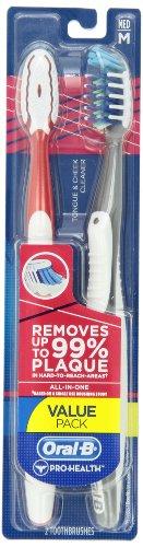 Medio cepillo de dientes Oral-B Pro Salud All-In-One 40 Twin Pack, colores surtidos