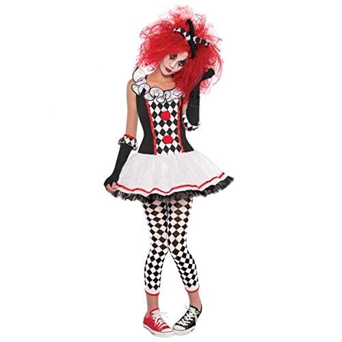 Harlequin Honey Girls Halloween Fancy Dress Teens Jester Kids Costume by Christy's -