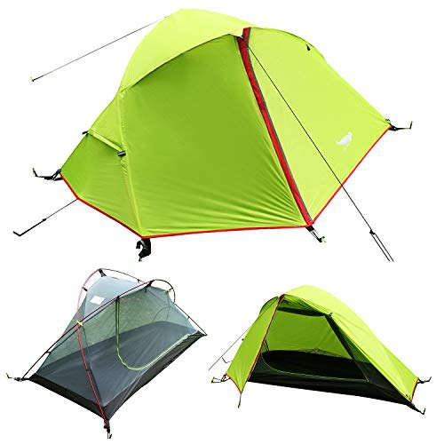 Luxe Tempo 3.3LB 1 Person Backpacking Tent Solo with Free Fo