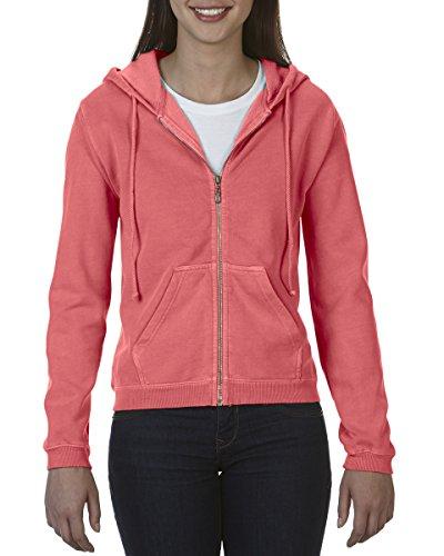 Neon Red Mujer Capucha Sudadera Para Orange Con Colors Comfort qgT1vv