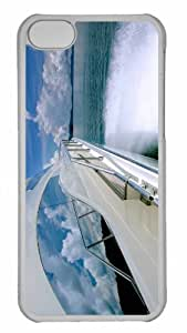 Customized iphone 5C PC Transparent Case - Yacht Ride Personalized Cover