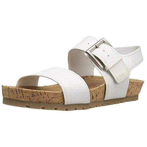 Aerosoles Women's Compass Flat Sandal, White, 10 M US