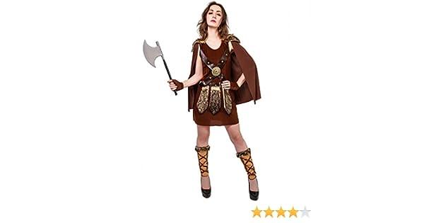 SEA HARE Disfraz de Guerrero Romano Vikingo para Mujer: Amazon.es ...