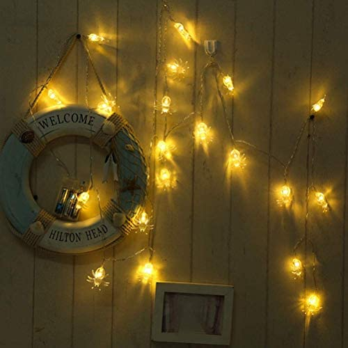 Kücheks 6M 40 LEDs Spider Shaped String Light Decorative Battery Operated String Light for Christmas Wedding Birthday Festival Party Decor (Colorful Light, No Battery)