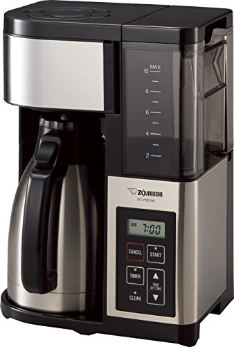 Zojirushi EC-YSC100 Fresh Brew Plus Thermal Carafe Coffee Maker, 10 Cup, Stainless Steel Black