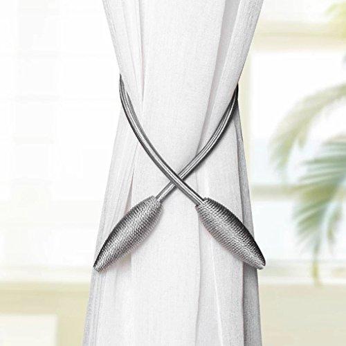 CHIMEI Curtain Holdback Fabric Window Tiebacks Decorative Hook Draperies No Need Drilling by CHIMEI (Image #2)