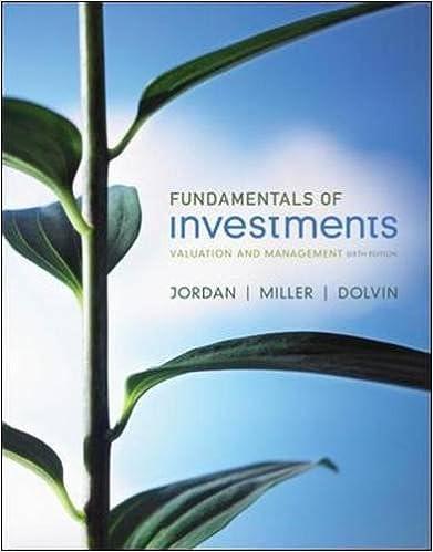 fundamentals of investments 6e jordan book