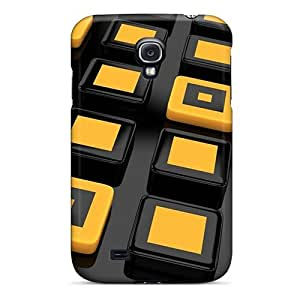 Galaxy S4 Hard Back With Bumper Silicone Gel Tpu Cases Covers Black And Yellow 3d