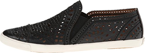 Aerin Women's Liza Black Lizard Emboss Nubuck Sneaker 10 B (M)