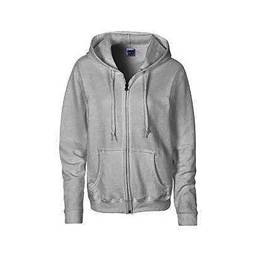 Gildan Heavy Blend Ladies Full Zip Hood Sweat / Sweatshirt Hoodie (L) (Sport Grey)
