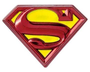Bright Pewter Parts - DC Comics Superman Logo Colored Pewter Lapel Pin