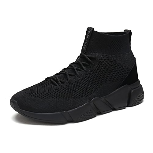 DREAM+PAIRS+Men%27s+170845M+All+Black+Lightweight+Breathable+Fashion+Sneakers+Sport+Walking+Shoes+-+13+D%28M%29+US
