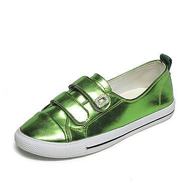 Dress Career Formal Flat EU38 5 Walking UK5 Outdoor Shoes US7 Flats Office Heelgreen Comfort Pu Tape amp;Amp; Formal CN38 Women'S Magic Casual Fall Shoes 5 Comfort APnvw